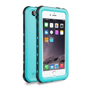 REDPEPPER Dot+ Series for iPhone 5s/5/SE IP68 Waterproof Case with Horn Holes, Support Fingerprint Identification Function - Blue