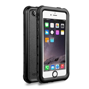 REDPEPPER Dot+ Series for iPhone 5s/5 IP68 Waterproof Cover with Horn Holes, Support Fingerprint Identification Function - Black