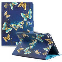 Pattern Printing Wallet Leather Tablet Cover for iPad 9.7-inch (2018) / 9.7-inch (2017) - Beautiful Butterfly