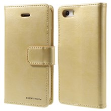 MERCURY GOOSPERY Blue Moon Wallet Leather Case for iPhone SE 5s 5 - Gold