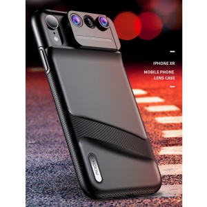 ROCK Gorgeous 3 Lens Kit PC TPU Hybrid Phone Case for iPhone XR 6.1 inch - Black