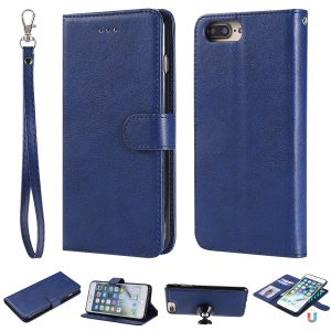 Magnetic Detachable 2-in-1 PU Leather Wallet Case for iPhone 8 Plus / 7 Plus / 6 Plus - Blue