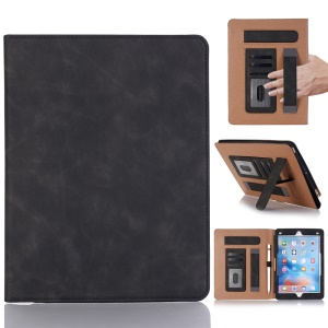 Retro Style PU Leather Smart Case for iPad 9.7-inch (2018) / 9.7-inch (2017) / Air 2 / Air - Black