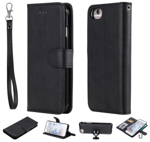 Magnetic Detachable 2-in-1 Wallet Leather Stand Case for iPhone 6s/6/7/8 - Black