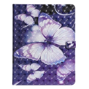 Pattern Printing PU Leather Tablet Case for iPad Pro 12.9-inch (2018) - Purple Butterflies