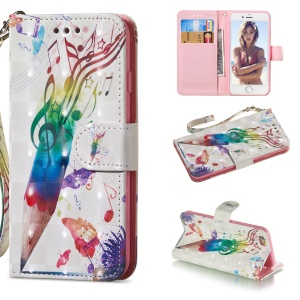 For iPhone 6s / 6 4.7-inch Patterned Leather Stand Protection Case [Light Spot Decor] - Pen and Note