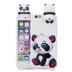 3D Cute Doll Patterned TPU Cell Phone Case for iPhone 6s / 6 4.7-inch - Lovely Panda
