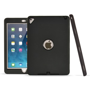 Shockproof Drop-proof Dust-proof PC Silicone Protection Cover for iPad Pro 9.7 inch (2016) / Air 2 / Air - All Black