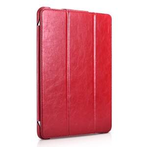 ICARER Tri-fold Stand PU Leather Smart Case for iPad Pro 12.9-inch (2018) - Red