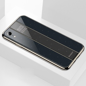 Luxurious Phone Case for Apple iPhone XR 6.1 inch PC + TPU Case - Black