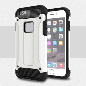 Solid PC + TPU Hybrid Case for iPhone 6s 6 - White