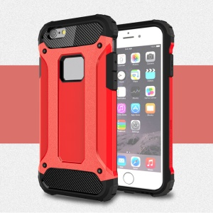 Solid PC + TPU Hybrid Cover Case for iPhone 6s 6 - Red