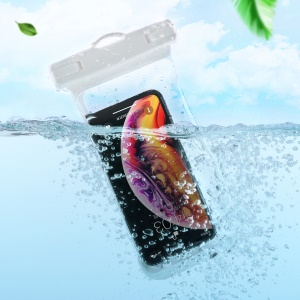 JOYROOM CY-264T Universal Waterproof Phone Bag Underwater Dry Case Pouch for 6.5 inch Phone - White