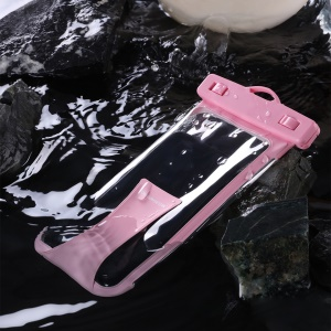 JOYROOM CY-264T Universal Waterproof Phone Bag Underwater Dry Case Pouch for 6.5 inch Phone - Pink