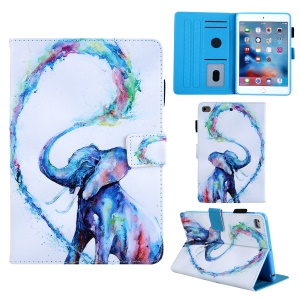 Animal Series Patterned Leather Card Holder Case for iPad mini 4 / 3 / 2 / 1 - Elephant