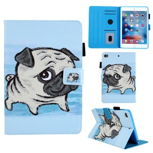 Animal Series Patterned Leather Card Holder Case for iPad mini 4 / 3 / 2 / 1 - Shar Pei