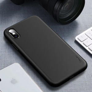 IPAKY Matte Wheat Straw TPU Cell Phone Cover for iPhone XS Max 6.5 inch - Black