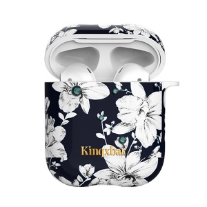 KINGXBAR Bluetooth Earphone Headset Charging Case Cover for Apple AirPods - Lily