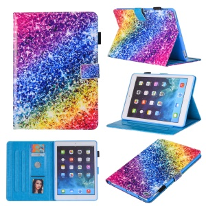 Patterned Leather Stand Smart Flip Case for iPad mini (2019) 7.9 inch / Mini 4 / 3 / 2 / 1 - Colorful Diamond