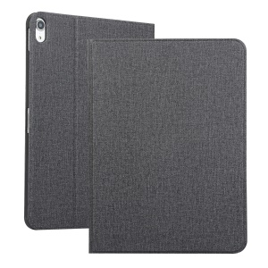 For Apple iPad Pro 11-inch (2018) Cloth Skin Leather Protective Cover with Stand - Dark Grey