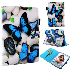 Blue Butterfly and Cobblestones