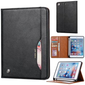 PU Leather Stand Wallet Protective Case with Pen Slot for iPad mini (2019) 7.9 inch / mini 4 - Black