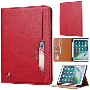 PU Leather Stand Wallet Protective Case with Pen Slot for iPad Air 10.5 inch (2019) - Red