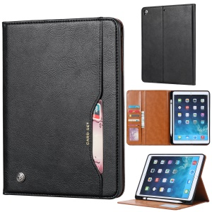 PU Leather Stand Wallet Protective Case with Pen Slot for iPad 9.7-inch (2018)/9.7-inch (2017)/Air/Air 2 - Black