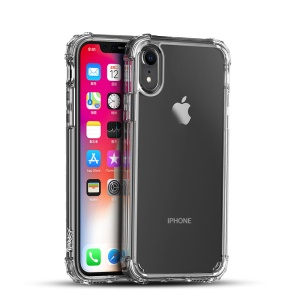 IPAKY Drop-resistant Claro TPU + PC Phone Case Capa Para O Iphone XR De 6,1 Polegadas - Branco Transparente
