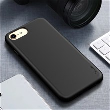 IPAKY Matte Wheat Straw TPU Mobile Phone Case for iPhone 8 / iPhone 7 - Black
