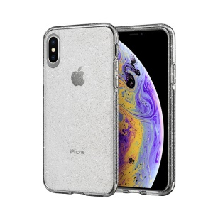 NXE Shiny Series Transparent TPU Phone Cover Case for iPhone XS/X