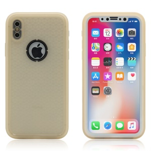 Daily Waterproof TPU Phone Case [360 Degree Protection] for iPhone XS/X 5.8 inch - Gold