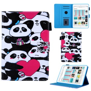 Pattern Printing Leather Flip Tablet Case for iPad mini (2019) 7.9 inch/ mini 4/ mini 3/Mini 2/Mini 1 - Groups of Panda