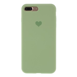 Heart Pattern Solid Silicone Mobile Phone Case for iPhone 7 plus/8 plus - Green