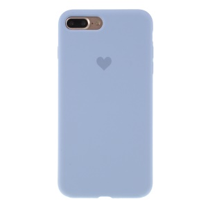 Heart Pattern Solid Silicone Mobile Phone Case for iPhone 7 plus/8 plus - Blue