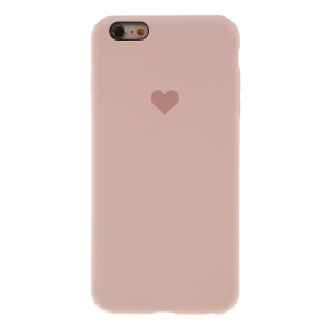 Heart Pattern Solid Silicone Mobile Phone Cover for iPhone 6/6s 4.7-inch - Light Pink