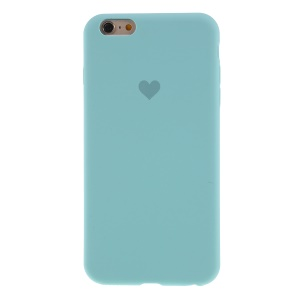 Heart Pattern Solid Silicone Mobile Phone Cover for iPhone 6/6s 4.7-inch - Baby Blue