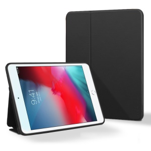 X-LEVEL Fib Color PU Leather Stand Tablet Casing for iPad mini (2019) 7.9 inch/mini 4/mini 3/mini 2/mini - Black