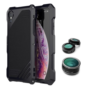VIKING Shockproof Dirt-proof Case with Three Interchangeable Lens foriPhone X / XS - Black