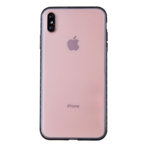 Matte Translucent PC + TPU Hybrid Phone Case for iPhone X / iPhone Xs - Pink