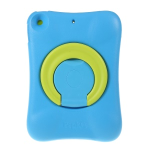 PEPKOO Shock-proof 360° Swivel Kickstand EVA Tablet Case for iPad mini (2019) 7.9 inch - Blue / Green