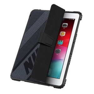 NILLKIN Sporty Style Bumper Leather Cover Smart Tablet Case for iPad 9.7-inch (2018/2017) [Imported TPU, PC and PU Leather Materials] - Grey