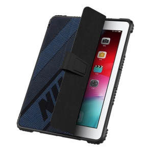 NILLKIN Sporty Style Bumper Leather Copertura Smart Tablet Case for iPad 9.7-inch (2018/2017) [Imported TPU, PC and PU Leather Materials] - Blue