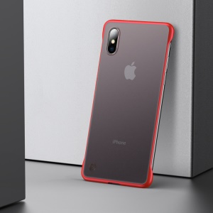 Matte Transparent Ultra Thin Hard PC Phone Case for iPhone X/XS 5.8 inch - Red