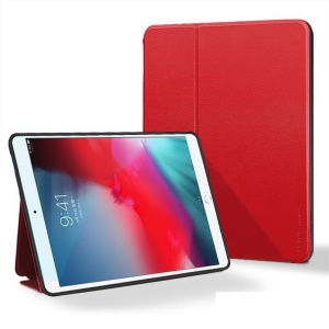 X-LEVEL Fib Farbe PU Leder Stand Tablet Case Für IPad Air 10,5 Zoll (2019) - Rot
