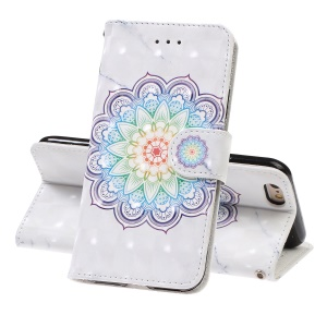 Custodia Per Cellulare In Similpelle Con Motivo Decorativo Per IPhone 6 / 6s - Fiore Di Mandala