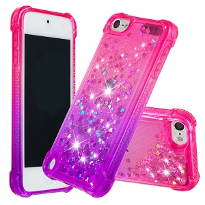 Gradient Glitter Powder Quicksand TPU Case for iPod Touch (2019) / Touch 6 / Touch 5 - Rose / Purple