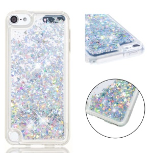 Dynamic Glitter Powder Sequins TPU Soft Case for iPod Touch (2019) / Touch 6 / Touch 5 - Silver
