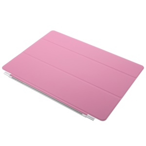 Single Tri-fold Leather Smart Shell Cover for iPad Pro 12.9 - Pink