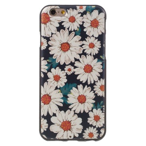 Embossed TPU Back Case for iPhone 6s 6 - White Flowers
